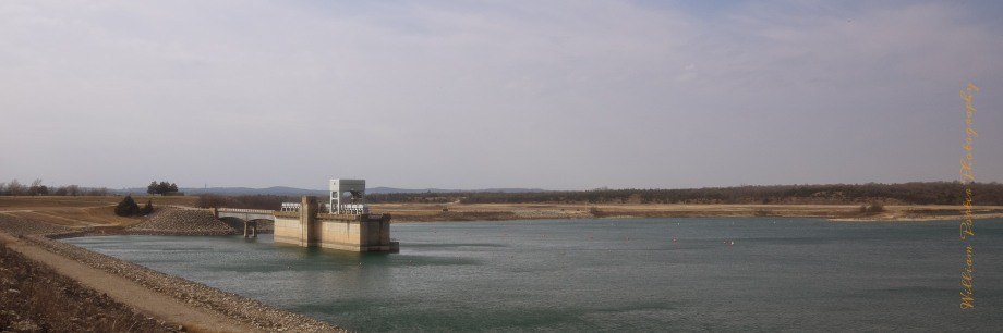 Looking south towards the Texas side of Lake Texoma, from the dam.